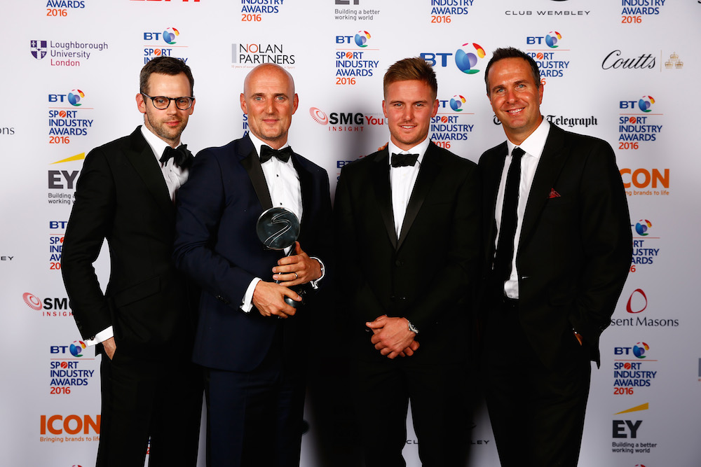Michael Vaughan and Jason Roy present Agency of the Year to M&C Saatchi Sport & Entertainment