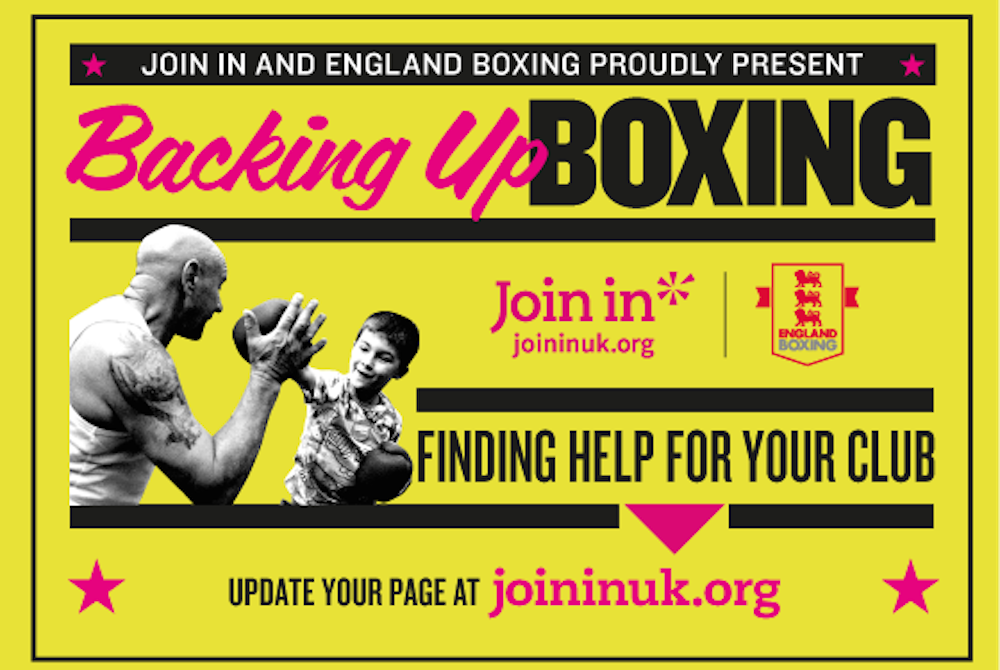 England Boxing teams up with Join In | www.sportindustry.biz