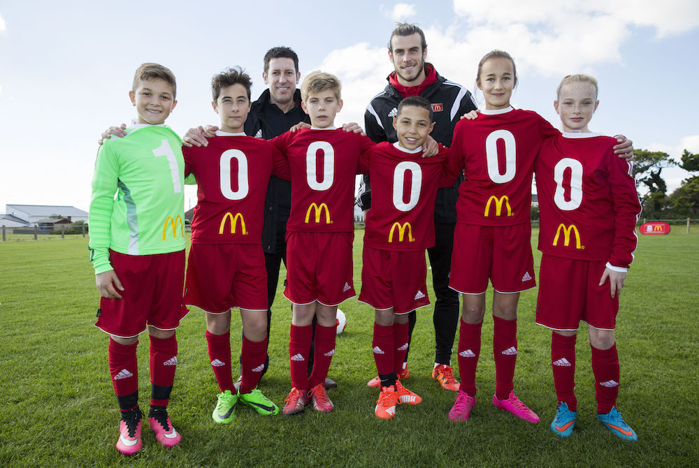 best authentic 2b076 a4377 Bale delivers 100,000th McDonald's kit | www.sportindustry.biz